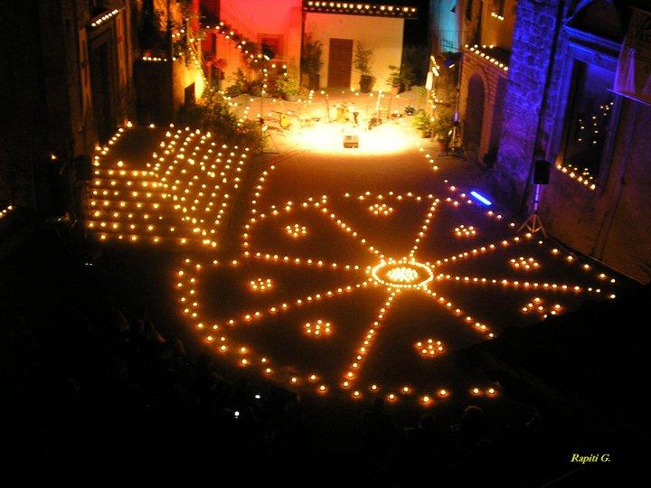La notte delle candele a vallerano la vii edizione il agosto